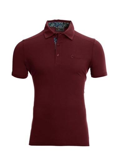 Panthzer  Toluca Erkek  Polo T-Shirt Bordo